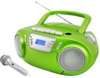 CD-Radiokassettenrekorder mit Mikrofon