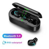 Q32-1 TWS Wireless Bluetooth 5.0 In-Ear-Ohrhörer mit digitaler Ladebox Schwarz ALCYONEUS1