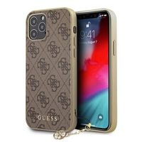 GUESS Schutzhülle für Apple iPhone 12 Pro Max Braun Hülle Case Cover Etui NEU