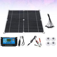 1 Set 20 W Kristall-Silizium-Solarzellen-Panel-Solarbatterie-Panel mit 10A Solarzellen-Panel-Controller (schwarz)