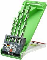 kwb Hardcut Granitbohrer– 4 teiliges Steinbohrer-Set, diamantgeschliffen,