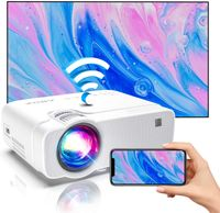 Wireless Beamer Heimkino Beamer fur Drauen, 1080P Full HD ABOX ®Projektor kompatibel mit iOS, Android, TV Stick, PS4, X-Box, AV,HDMI, SD