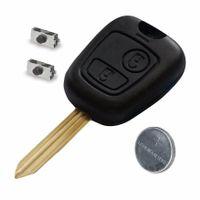 Schlüsselgehäuse mit Rohling 2 Tasten passend für Peugeot 107 207 207CC (PG20B)