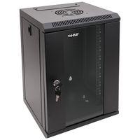HMF 63309-02 Serverschrank 10 Zoll, 9 HE, Netzwerkschrank, 31,2 x 30 x 48,3 cm, schwarz