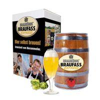 BRAUKÖNIG ® Braufass Express - Holzoptik / Bierbrauset zum selber Brauen