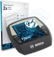 Bruni Basics-Clear 2x Schutzfolie kompatibel mit Bosch Intuvia Folie