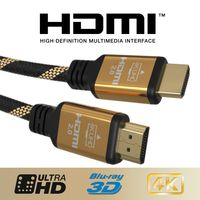 JAMEGA - 5m Ultra HDTV 4K PREMIUM HDMI Kabel 2.0b | Highspeed mit Ethernet 4K HDR ARC CEC 3D 2160p U-HD | HDMI 2.0b 2.0a 2.0 1.4a | 4 Fach geschirmt | 24K Vergoldet