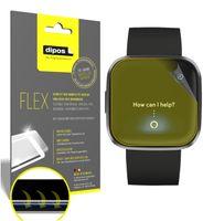3x FitBit Versa 2 Schutzfolie Folie, 100% Displayabdeckung, dipos Flex