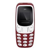 BM10 Mini Bluetooth Handy Mobiltelefon Seniorenhandy Tastenhandy mit Großen Tasten, MP3 / MP4 rot Kopfhörer 67,8 x 27,8 x 12,4 mm Geringe Strahlung 32 + 32M