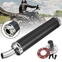 Universal 2 Takt Motorrad Racing Auspuff Auspufftopf Schalldämpfer 60x280mm