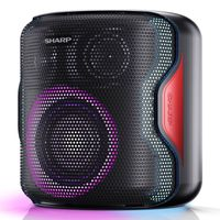 Sharp PS-919 2.1 Bluetooth-Lautsprecher, 130 Watt RMS, wasserabweisendes Gehäuse, Farbe: schwarz