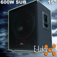 "E-Lektron SUB-P38 passiv PA Subwoofer 15""/38cm - EL179750"