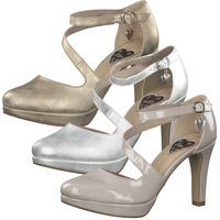 s.Oliver Damen Pumps High-Heels Riemchenpumps 5-24400-34, Größe:38 EU, Farbe:Silber