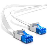 deleyCON 20m CAT6 Flaches Netzwerkkabel 1,5mm Flachbandkabel U-UTP RJ45 - UUTP Patchkabel für DSL LAN Switch Router Modem Repeater Patchpanel