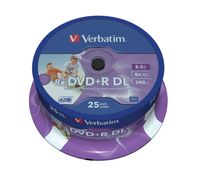 VERBATIM 43667 Printable Bedruckbar DVD+R DL 8X Rohling