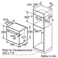 Bosch HBG635BS1 Einbaubackofen Edelstahl EEK: A+