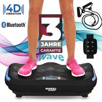 Miweba Sports 4D Wave MV300 Vibrationsplatte  Bluetooth Fitness Pr... (Schwarz)