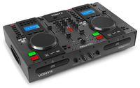 Vonyx CDJ450 DJ Workstation - 2 MP3-fähige CD-Player , Bluetooth-Funktion , 2 x USB-Port , 2-Kanal-Mixer , Mediaplayer , integrierte Ordnersuche , Tragegriffe