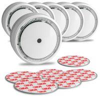 6x Mini Rauchwarnmelder, Magnetpad, 10 Jahre, EN 14604, SEBSON GS522 Rauchmelder