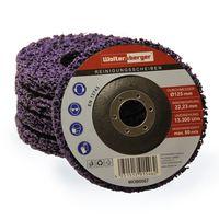 Woltersberger® 5 Stück Grob Reinigungsscheiben Ø 115 mm CSD Reinigungsvlies CBS Nylon