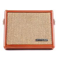ammoon AC-15 15W Tragbarer Akustikgitarrenverstaerker Amp BT-Lautsprecher mit Mikrofoneingang Unterstuetzt Lautstaerke-Hoehenregler Reverb-Effekt Eingebauter Akku