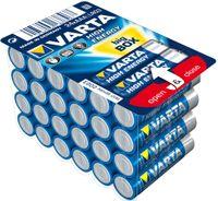 Varta AAA, LR03, 1.5V, Alkali, Zylindrische, 1,5V, 4,45 cm, 1,05 cm, 24 Batterien