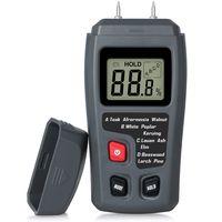 Feuchtigkeitsmessgeräte Digital Holz Feuchtemessgerät Feuchtigkeitsmesser Feuchtigkeits-Detector mit 2 Pins Sensor für Holz Brennholz Pappe Papier Baumaterialien