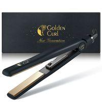 Golden Curl Titanium Glätteisen GL829 (Gold) 2 in 1 zum Glätten und Locken
