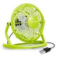 TROTEC TVE 1L Mini USB Ventilator / Fan / Lüfter Lemon Green, geräuscharm mit An/Aus-Schalter, 360° Neigungswinkel, ideal für Schreibtisch Laptop Notebook, oder unterwegs (hellgrün)