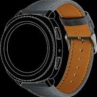 Topp - Armband für Samsung Gear Sport/Galaxy Watch 42mm   Leder   Grau