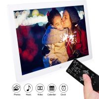 Profi 17 Zoll 1440 * 900 HD Digitaler Bilderrahmen Videoplayer ABS AC 100-240V+Fernbedienung+Halterung