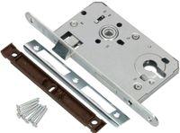 KOTARBAU® Einsteckschloss 72/55mm DIN Links Profilzylinder Schloss Türschloss mit Gegenplatte Stahl Verzinkt  Rostfrei Robust Silber