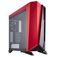 Corsair Carbide SPEC-OMEGA - Midi-Tower - PC - Stahl - Gehärtetes Glas - Schwarz - Rot - ATX,Micro ATX,Mini-ITX - 37 cm