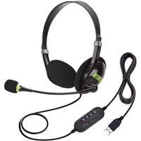 PC Headset USB Headset mit Mikrofon Noise Cancelling Lautstärkeregler PC Kopfhörer Business Skype Softphone Call Center Office