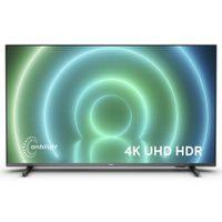 Philips 43PUS7906/12 43 Zoll LED Android Fernseher, 4K-Smart-TV mit Ambilight, HDR-Bild, Dolby Vision- und Atmos-Sound, kompatibel mit Google Assistant, Schwarz mit schlanken Standfüßen