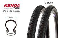 2 Stück KENDA Komfort K841A Fahrrad MTB Reifen 27.5x1.95 Mantel Decke Tire 48-584 schwarz