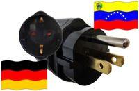 Urlaubsadapter Venezuela für Geräte aus Deutschland