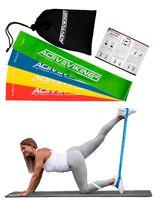 Fitnessbänder Set 4-Stärken by ActiveVikings® - Ideal für Muskelaufbau Physiotherapie Pilates Yoga Gymnastik und Crossfit   Fitnessband Gymnastikband Widerstandsbänder