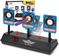 Elektrische Zielscheibe für Nerf Pistole, Auto Reset Intelligent Light Sound Effect Scoring Target für Nerf N-Strike Elite/Mega/Rival Series (nur Ziel)