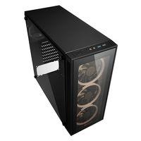 Sharkoon TG4 - Midi-Tower - PC - Gehärtetes Glas - Schwarz - ATX,Micro ATX,Mini-ITX - Rot/Grün/Blau