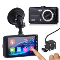 4'' 1080P Touchscreen Auto DVR Dual Objektiv Dash Cam Video Kamera Recorder G-Sensor
