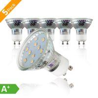LED Lampe Leuchtmittel GU10 3 Watt warmweiß 3.000 Kelvin Glühlampe Glühbirne 230 V Set B.K.Licht