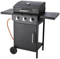 Countryside®  Let's BBQ Gasgrill 3-Brenner, Grillfläche 47,5 cm x 38 cm, Temperaturanzeige im Deckel