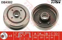 Trw Bremstrommel Hinterachse DB4302