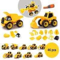 Jamara bausatz Baufahrzeuge 9-in-2 Jungen gelb