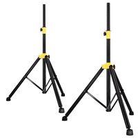 PremiumX 2x Dreibein Stativ Tripod Lautsprecher Audio Boxen Ständer schwarz
