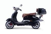Motorroller, Moped, Mofa 50 ccm Klassik Florenz 4.0 schwarz-weiss