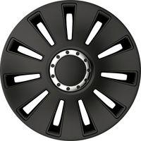 4 STK 15 Zoll Silverstone Pro black schwarz PETEX Radkappen Radzierblenden Satz PKW Auto