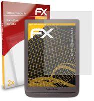 atFoliX FX-Antireflex 2x Schutzfolie kompatibel mit PocketBook InkPad 3 Panzerfolie