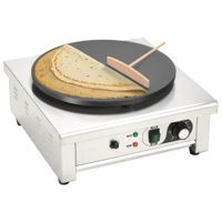 3000 W Elektrischer Crepe-Maker mit ausziehbarem Tablett, mit Temperaturregler, 49 x 45 x 24 cm
